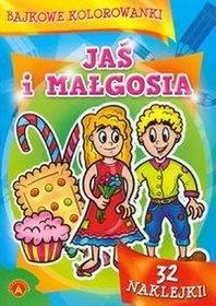 Bajkowe kolorowanki Jaś i Małgosia