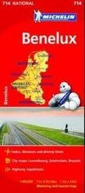 Benelux. Mapa w skali 1:400 000