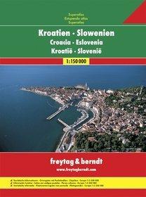 Chorwacja Słowenia atlas 1:150 000