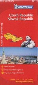 Czechy i Słowacja. Mapa w skali 1:600 000