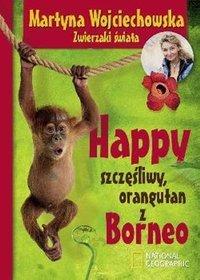Happy. Szczęśliwy orangutan z Borneo