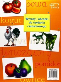 Język polski. Wyrazy i obrazki do czytania całościowego. Klasa 1-3. Materiały pomocnicze - szkoła podstawowa