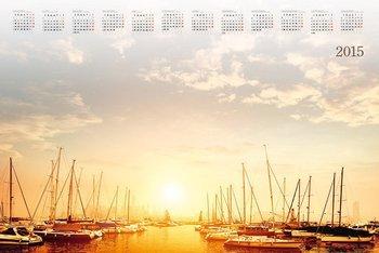 Kalendarz 2015. Kalendarz BL_159 blokowy roczny standardowy. Jachty - rozmiar 48 x 33cm