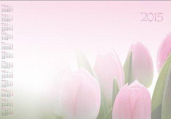 Kalendarz 2015. Kalendarz BL_160 blokowy roczny standardowy. Tulipany - rozmiar 48 x 33cm