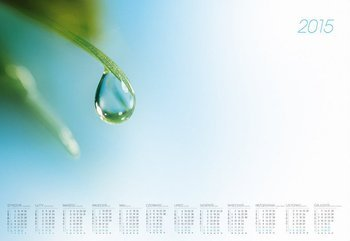 Kalendarz 2015. Kalendarz BL_161 blokowy roczny standardowy. Kropla - rozmiar 48 x 33cm