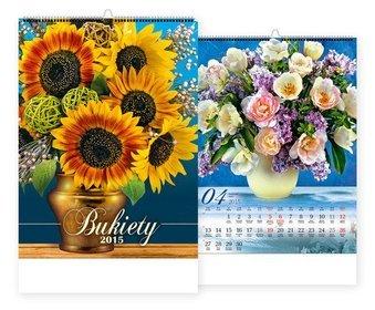 Kalendarz 2015. Kalendarz ścienny 13-planszowy. WP 123 Bukiety - rozmiar 33 x 50cm
