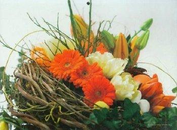 Kalendarz 2015. Kalendarz ścienny trójdzielny. Kwiaty