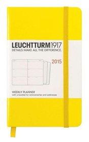 Kalendarz 2015. Leuchtturm1917. Kalendarz książkowy tygodniowy A6. Weekly Planner - cytrynowy