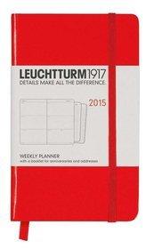 Kalendarz 2015. Leuchtturm1917. Kalendarz książkowy tygodniowy A6. Weekly Planner - czerwony -