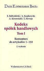Kodeks Spólek handlowych Tom 1