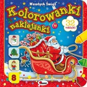 Kolorowanki naklejanki 8 Wesołych Świąt