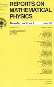 Reports on Mathematical Physics 62/1 2008 Kraj -