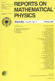 Reports on Mathematical Physics 63/1 2009