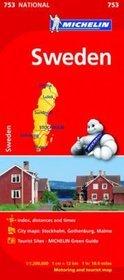 Szwecja / Sweden. Mapa Michelin
