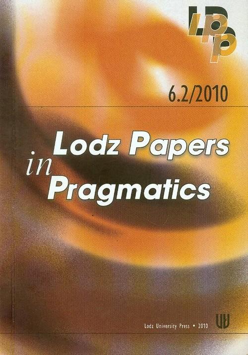 6.2/2010 Lodz Papers in Pragmatics