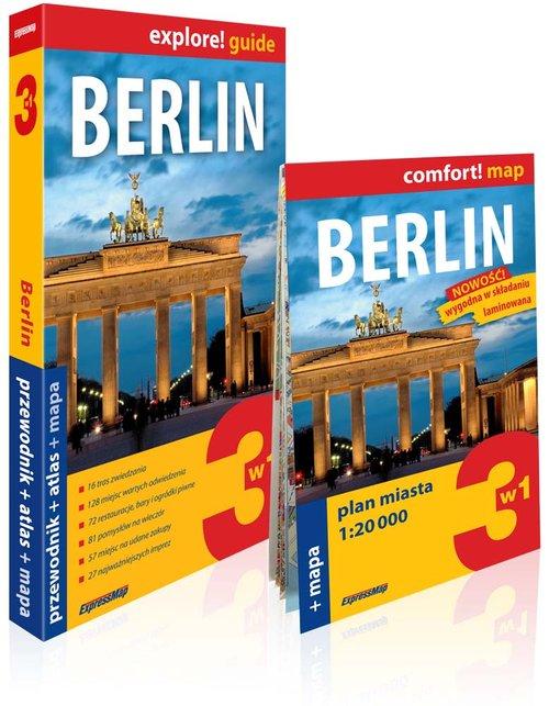 Explore! guide. Berlin 3w1. Przewodnik + atlas + mapa
