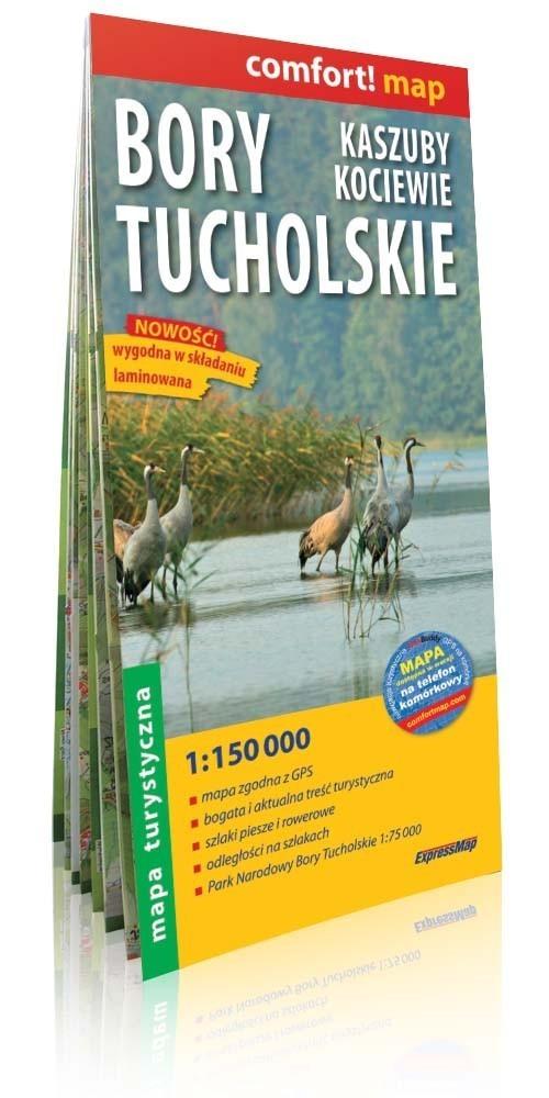Bory Tucholskie, Kaszuby, Kociewie comfort! map laminowana mapa turystyczna 1:150 000