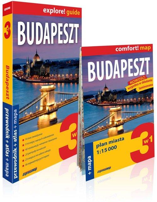Explore! guide. Budapeszt 3w1. Przewodnik + atlas + mapa