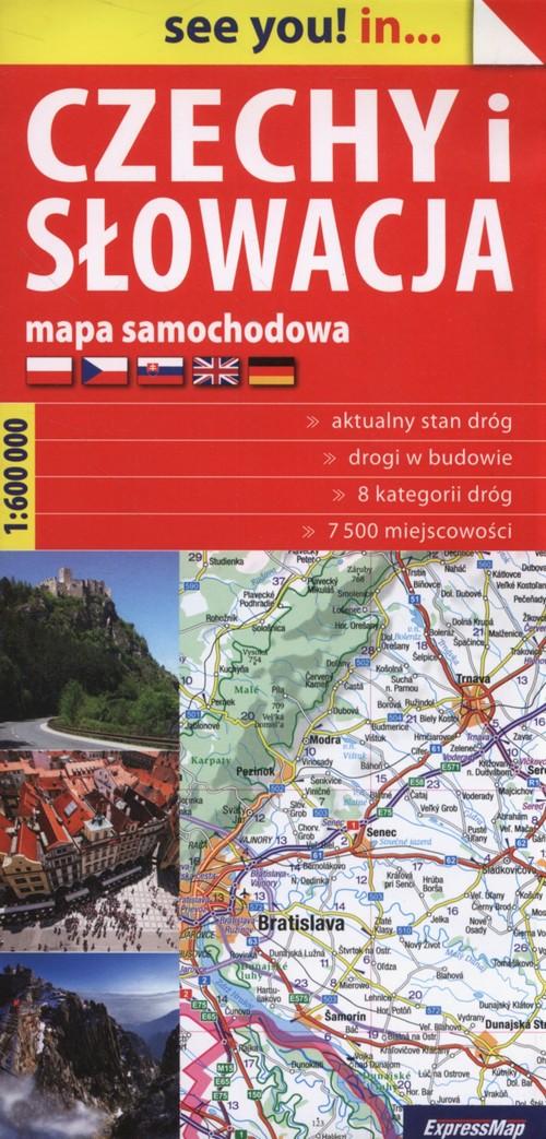 Czechy i Słowacja Mapa samochodowa 1:600 000