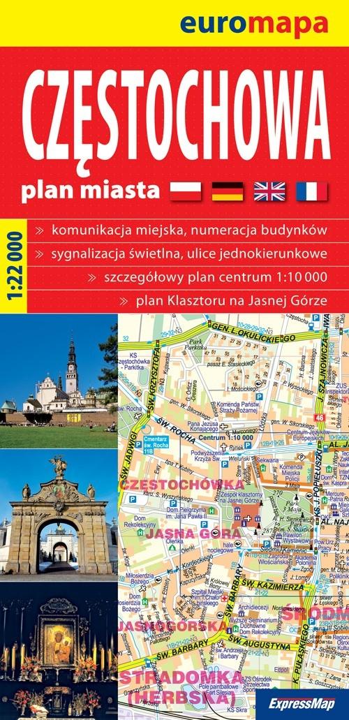 Częstochowa plan miasta 1:22 000