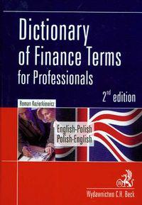 Dictionary of Finance termsfor professionals english-polish polish-english
