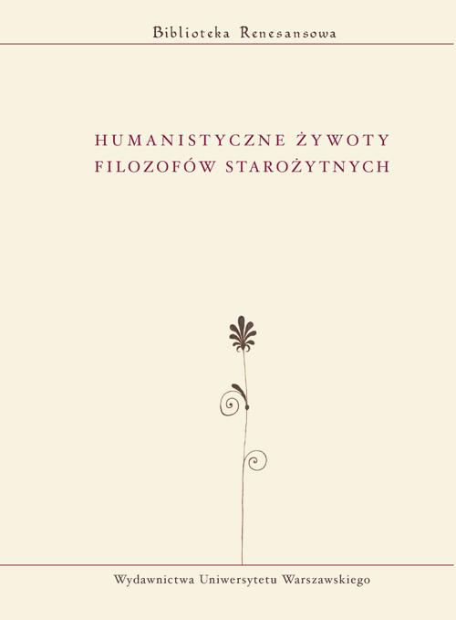 EBOOK Humanistyczne żywoty filozofów starożytnych