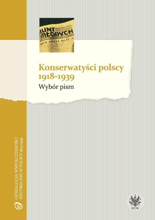 EBOOK Konserwatyści polscy 1918-1939. Wybór pism