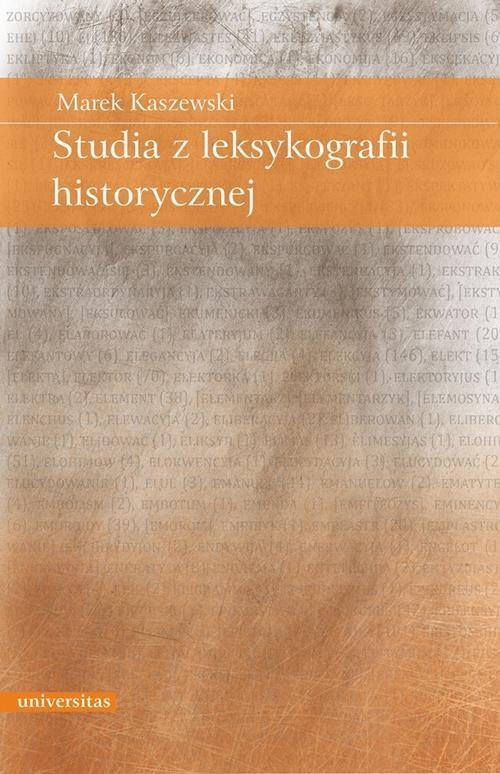 EBOOK Studia z leksykografii historycznej