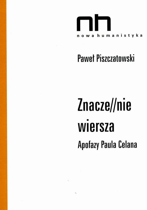 EBOOK Znacze//nie wiersza - Paweł Piszczatowski