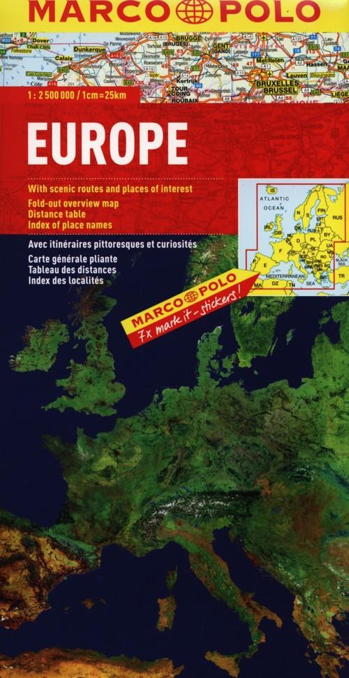 Marco Polo. Europa 1 : 2 500 000 (physisch) landerkarte