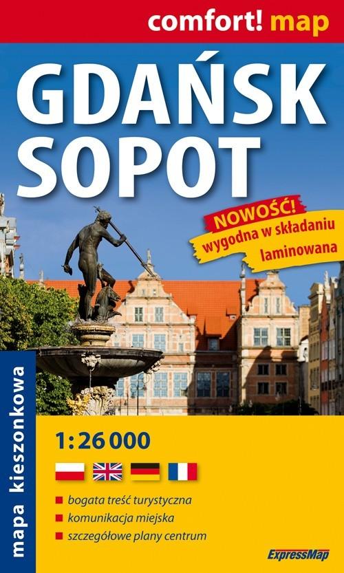 Gdańsk Sopot plan miast 1:26 000