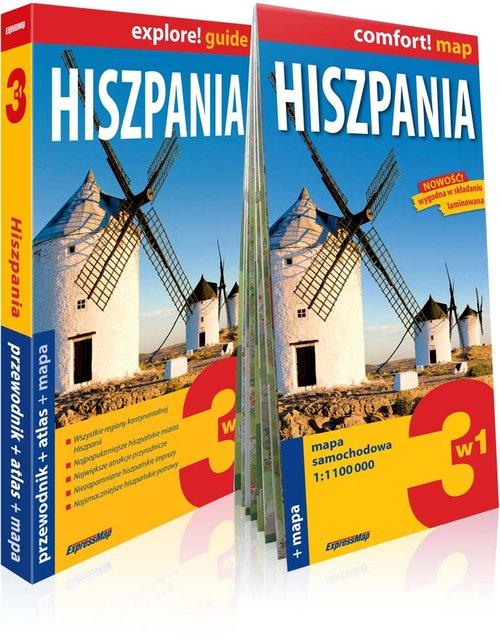 Explore! guide. Hiszpania 3w1. Przewodnik + atlas + mapa