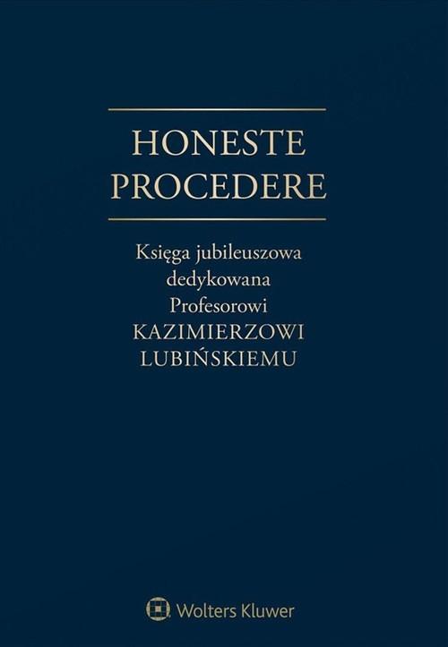 Honeste Procedere Księga Jubileuszowa dedykowa