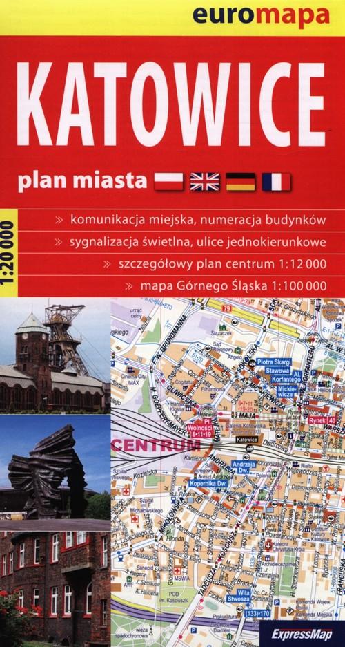 Katowice 1:20 000 plan miasta