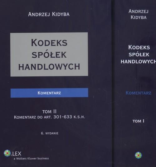 Kodeks spółek handlowych  Komentarz Tom 1 - 2