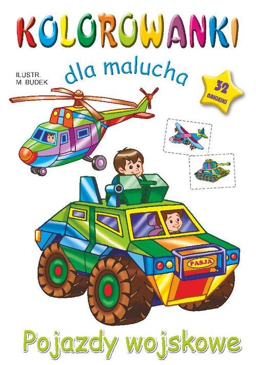 Kolorowanki dla malucha Pojazdy wojskowe