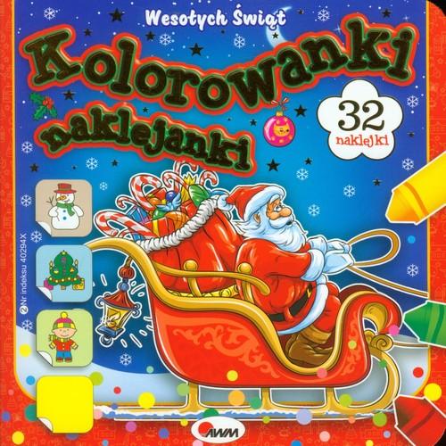 Kolorowanki naklejanki. Wesołych Świąt + naklejki