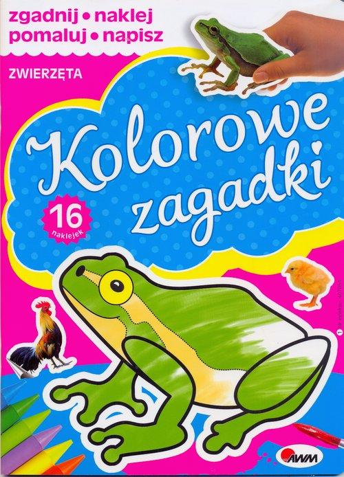 Kolorowe zagadki Zwierzęta - KOZERA PIOTR