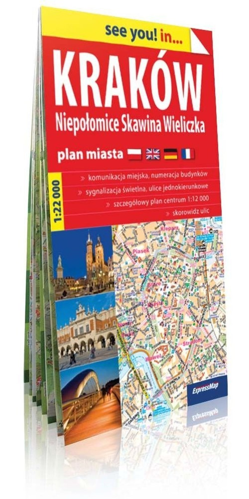 See you! in... Kraków. Niepołomice, Skawina, Wieliczka - plan miasta (skala 1:22 000)