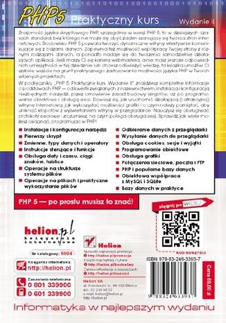 PHP 5. Praktyczny kurs. Wydanie II. eBook