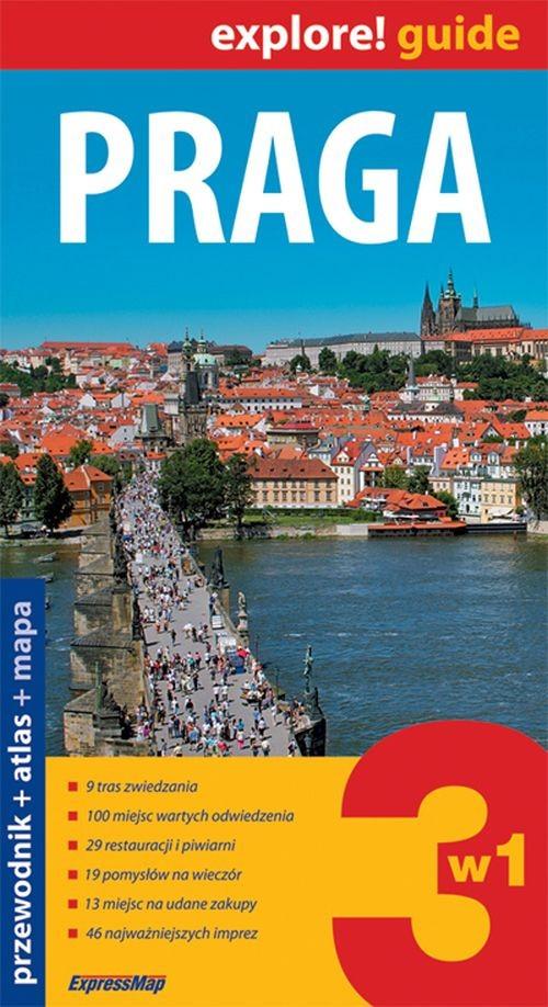 Praga 3w1 przewodnik + atlas + mapa laminowana