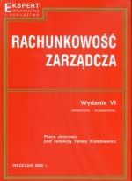 Rachunkowość zarządcza cz.1 Podręcznik