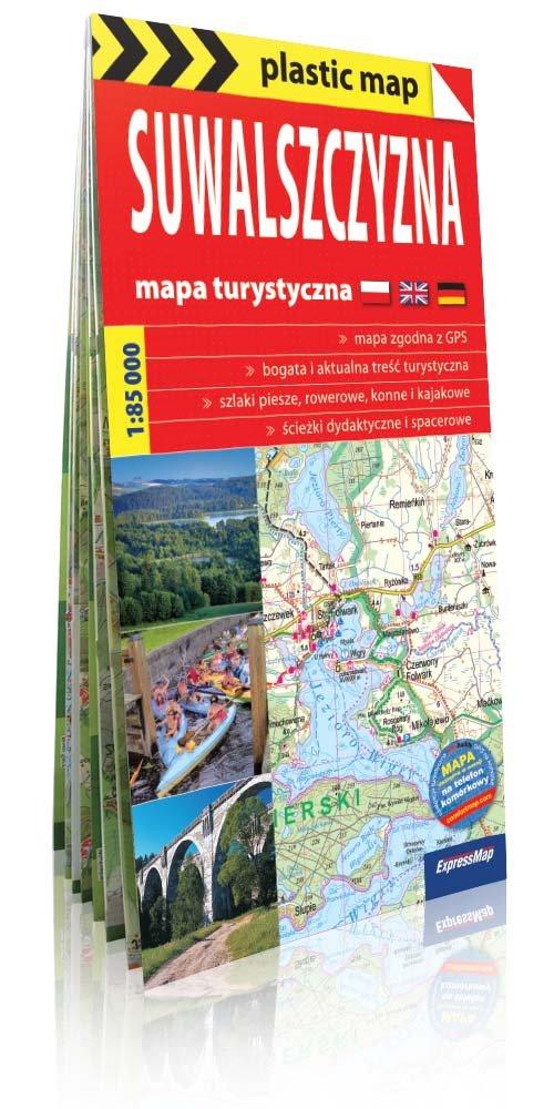 Plastic map. Suwalszczyzna. Foliowana mapa turystyczna (skala 1:85 000)