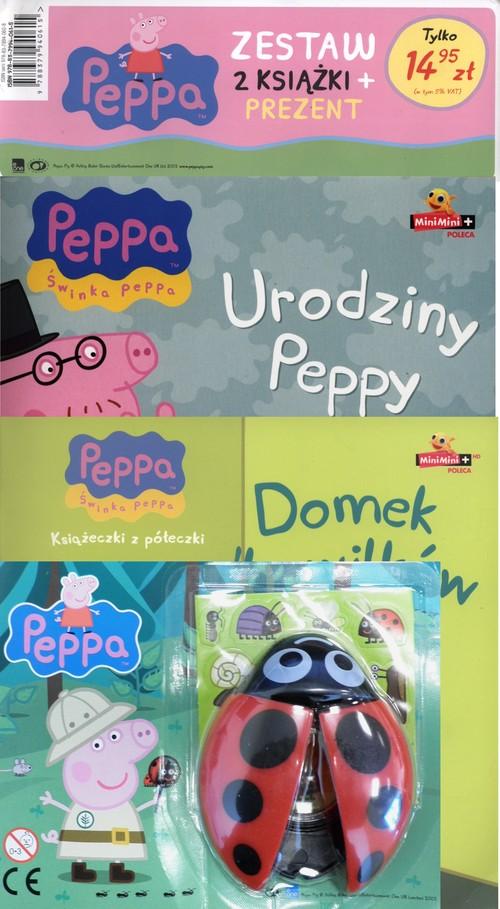Świnka Peppa 2 książki Urodziny Peppy / Domek dla wilków + Biedronka z lupą