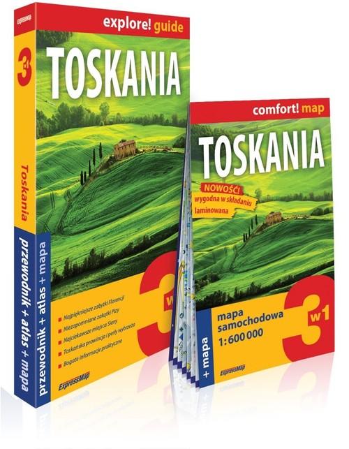 Explore! guide. Toskania 3w1. Przewodnik + atlas + mapa