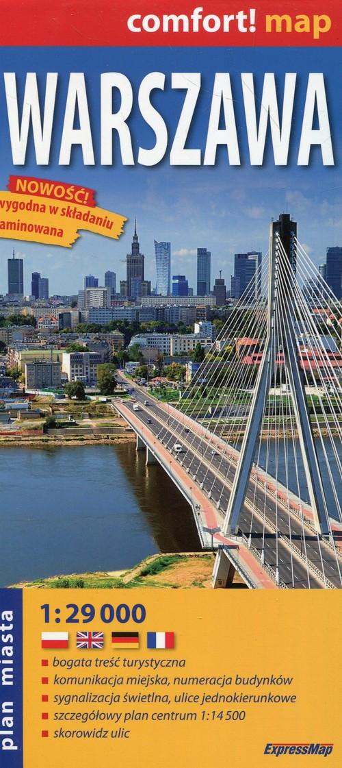 Comfort! map. Warszawa. Laminowany plan miasta (skala 1:29 000)