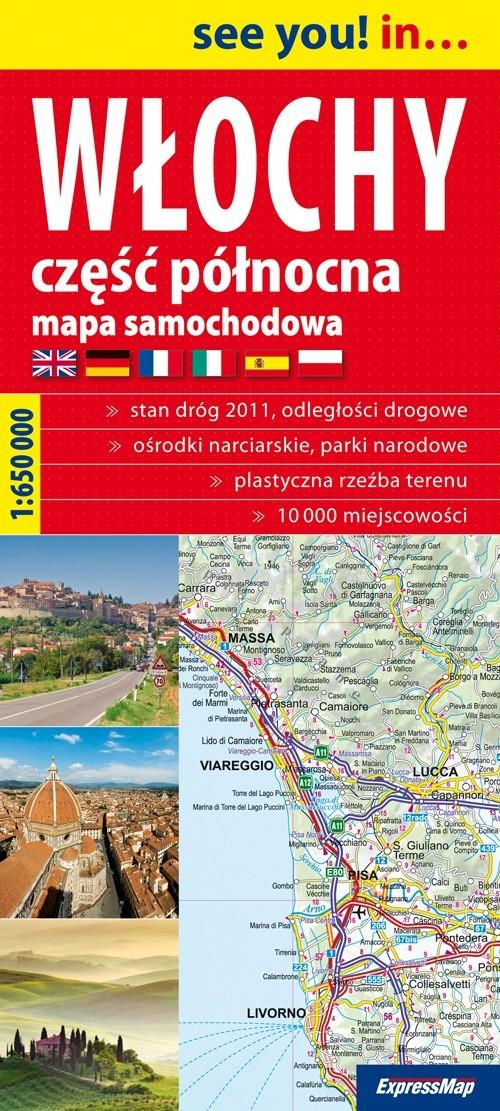 Włochy część północna mapa samochodowa 1:650 000