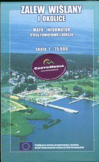 Zalew Wiślany i okolice pol-ang-niem Mapa 1:75 000